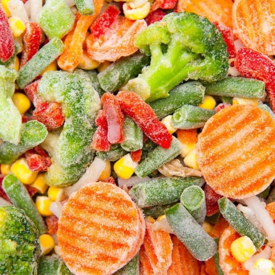 Diepvries groente
